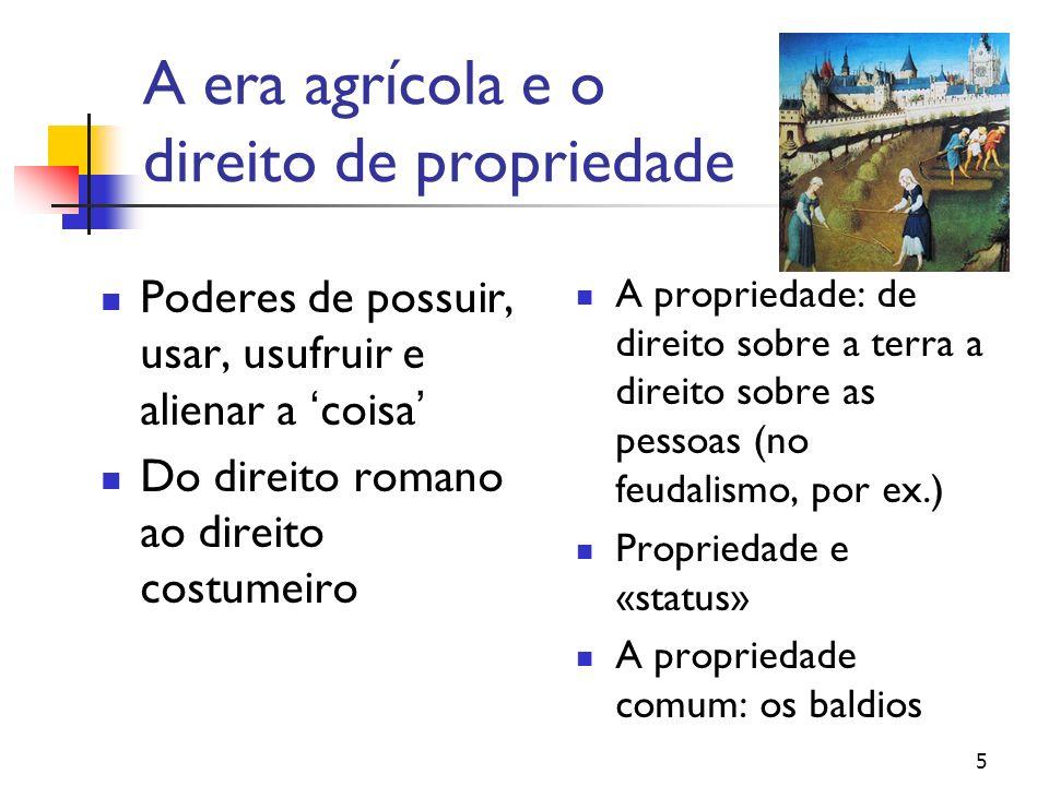 A era agrícola e o direito de propriedade