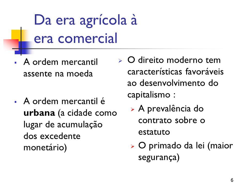Da era agrícola à era comercial