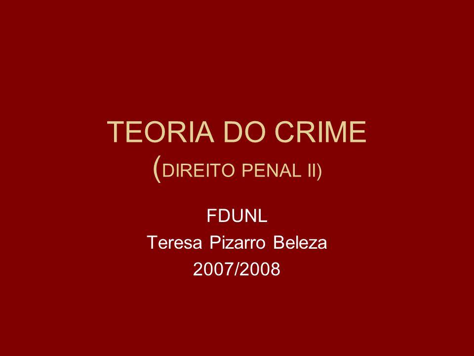 TEORIA DO CRIME (DIREITO PENAL II)