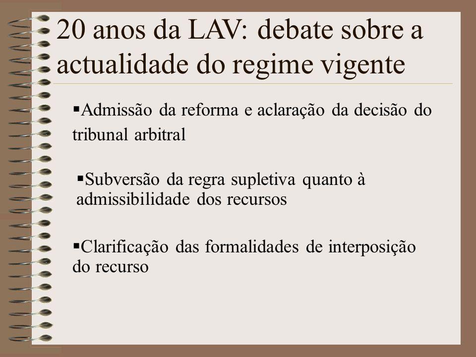20 anos da LAV: debate sobre a actualidade do regime vigente
