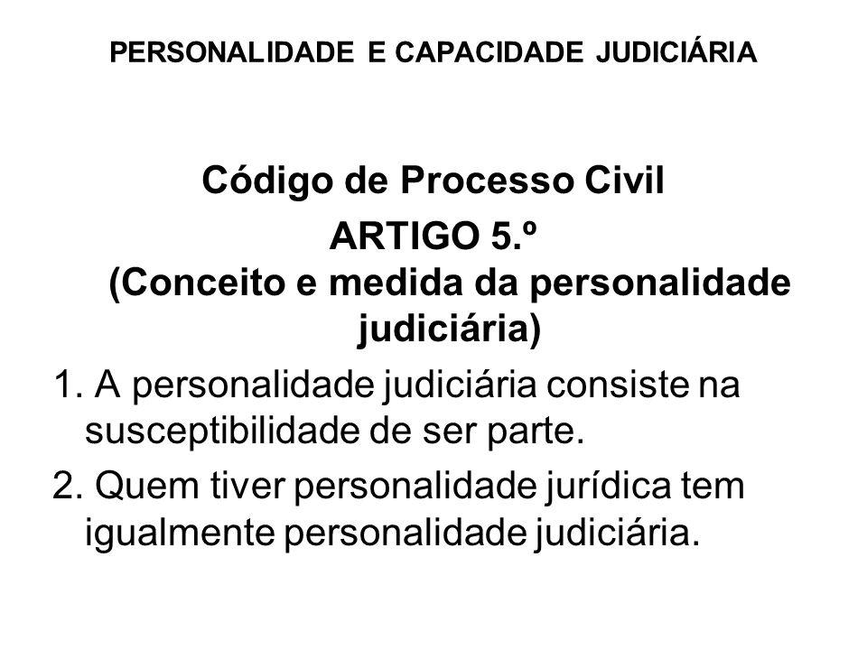 PERSONALIDADE E CAPACIDADE JUDICIÁRlA