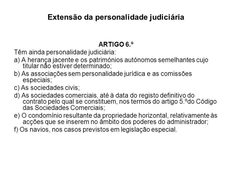 Extensão da personalidade judiciária