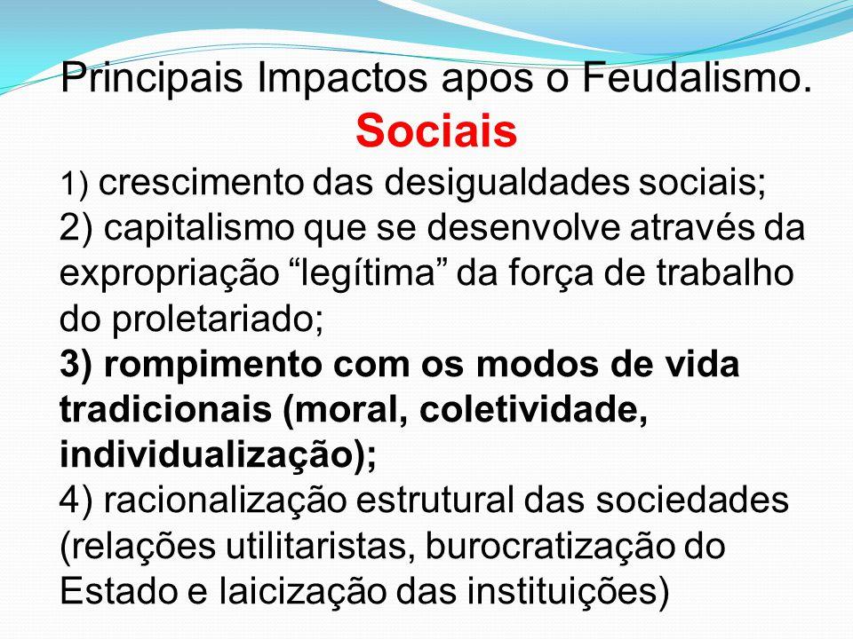 Principais Impactos apos o Feudalismo.