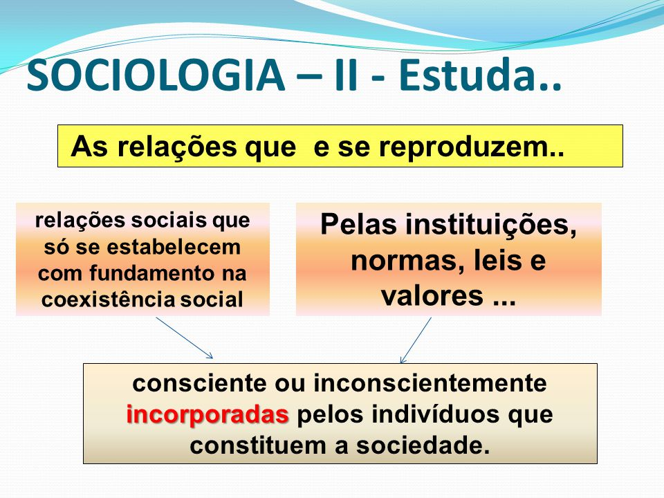 SOCIOLOGIA – II - Estuda..