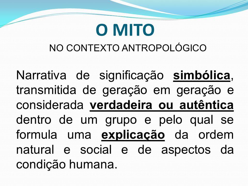 NO CONTEXTO ANTROPOLÓGICO