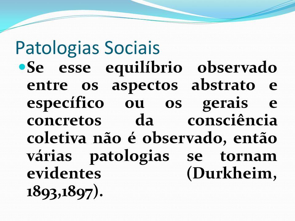 Patologias Sociais
