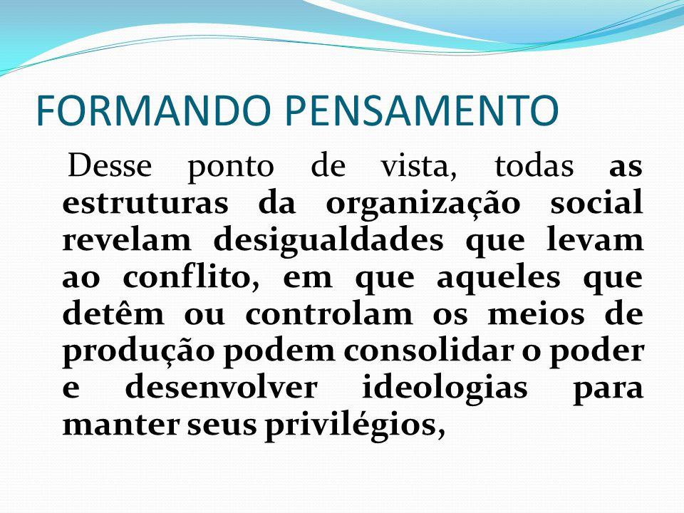 FORMANDO PENSAMENTO