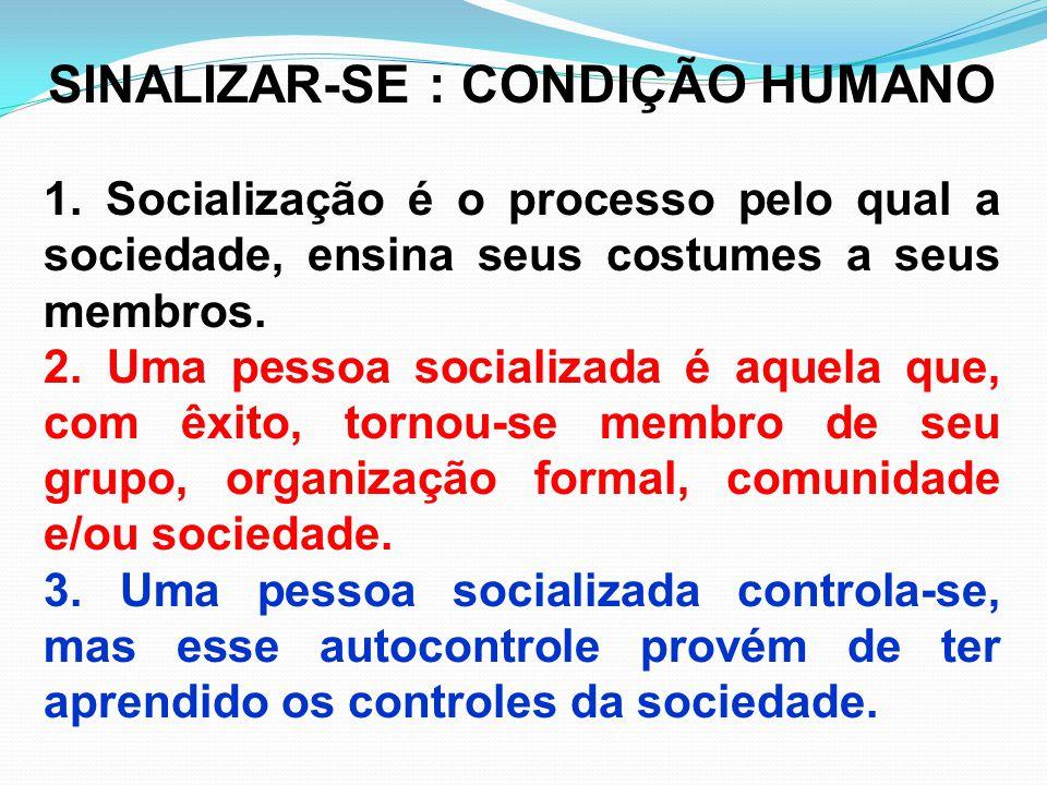 SINALIZAR-SE : CONDIÇÃO HUMANO