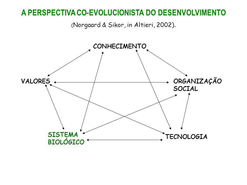 A PERSPECTIVA CO-EVOLUCIONISTA DO DESENVOLVIMENTO