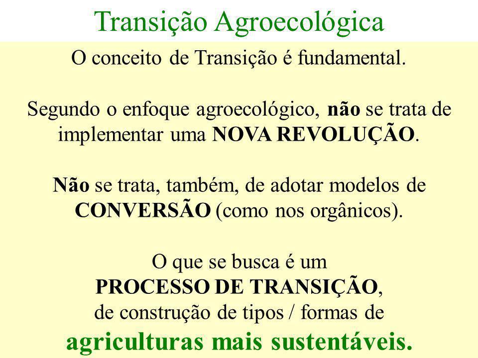 agriculturas mais sustentáveis.