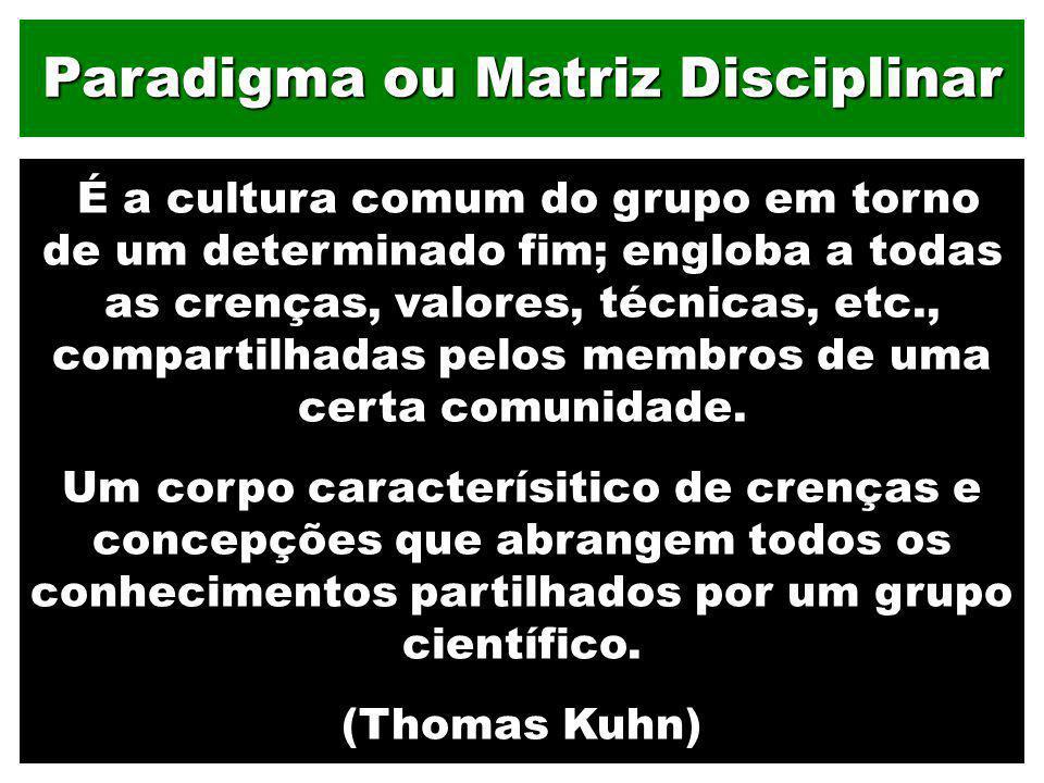 Paradigma ou Matriz Disciplinar