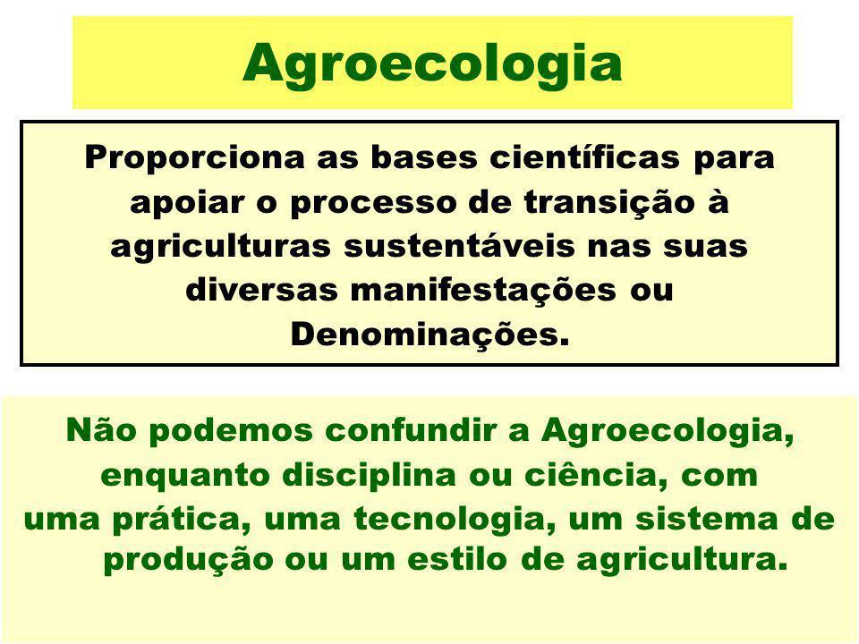 Agroecologia Proporciona as bases científicas para