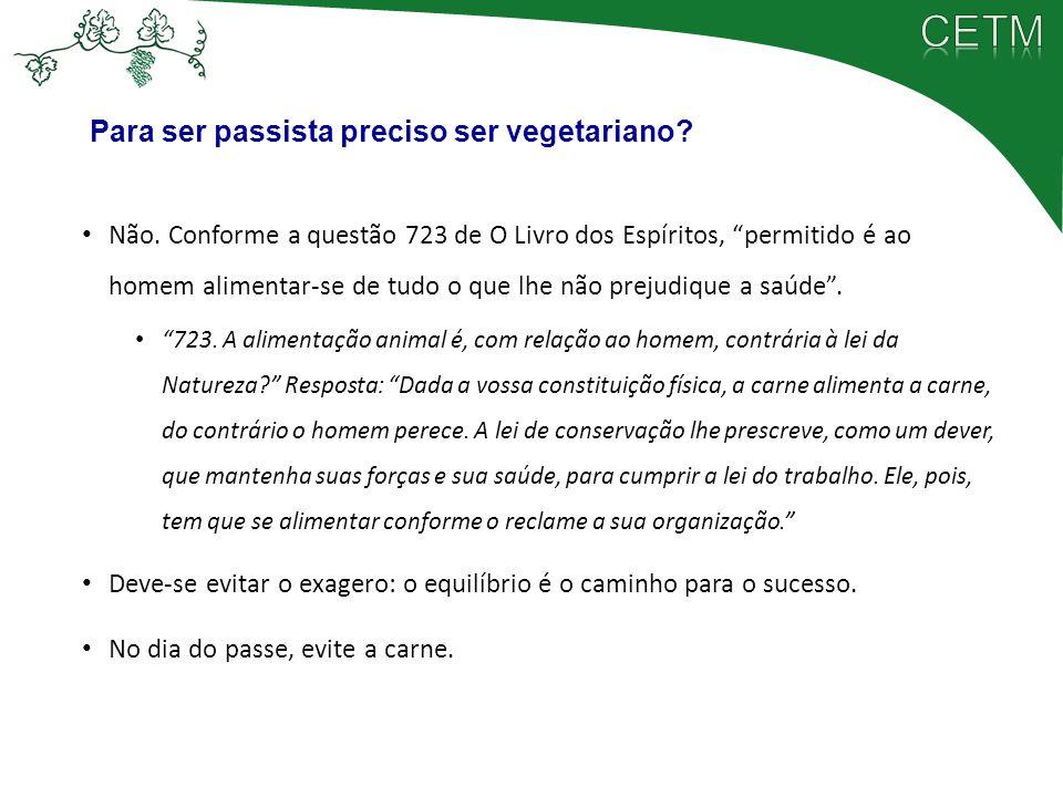 Para ser passista preciso ser vegetariano