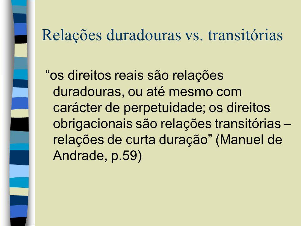 Relações duradouras vs. transitórias