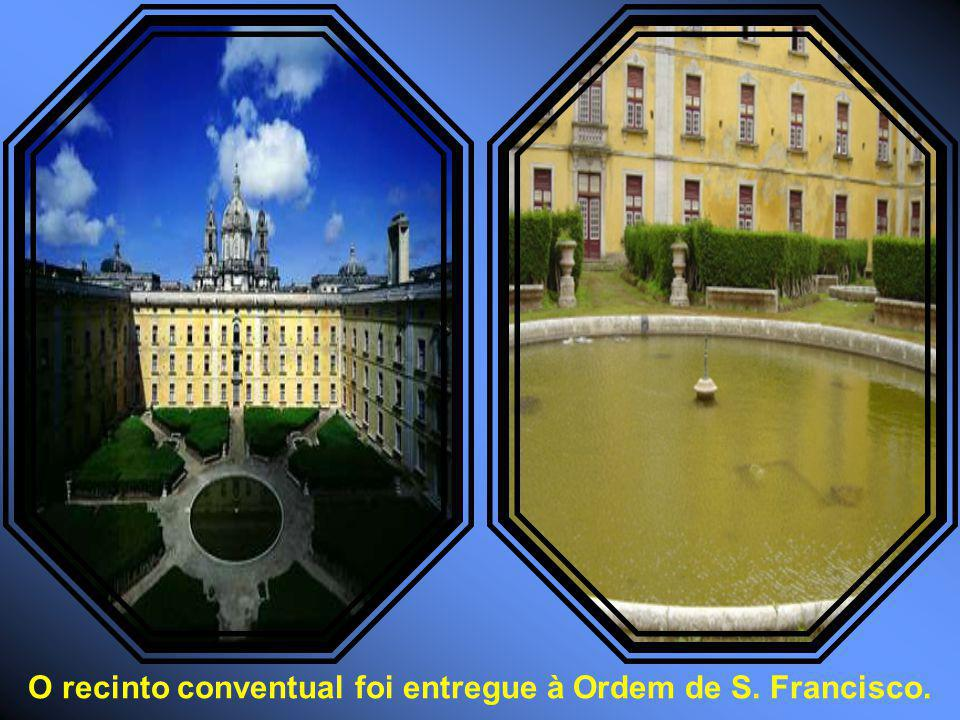 O recinto conventual foi entregue à Ordem de S. Francisco.