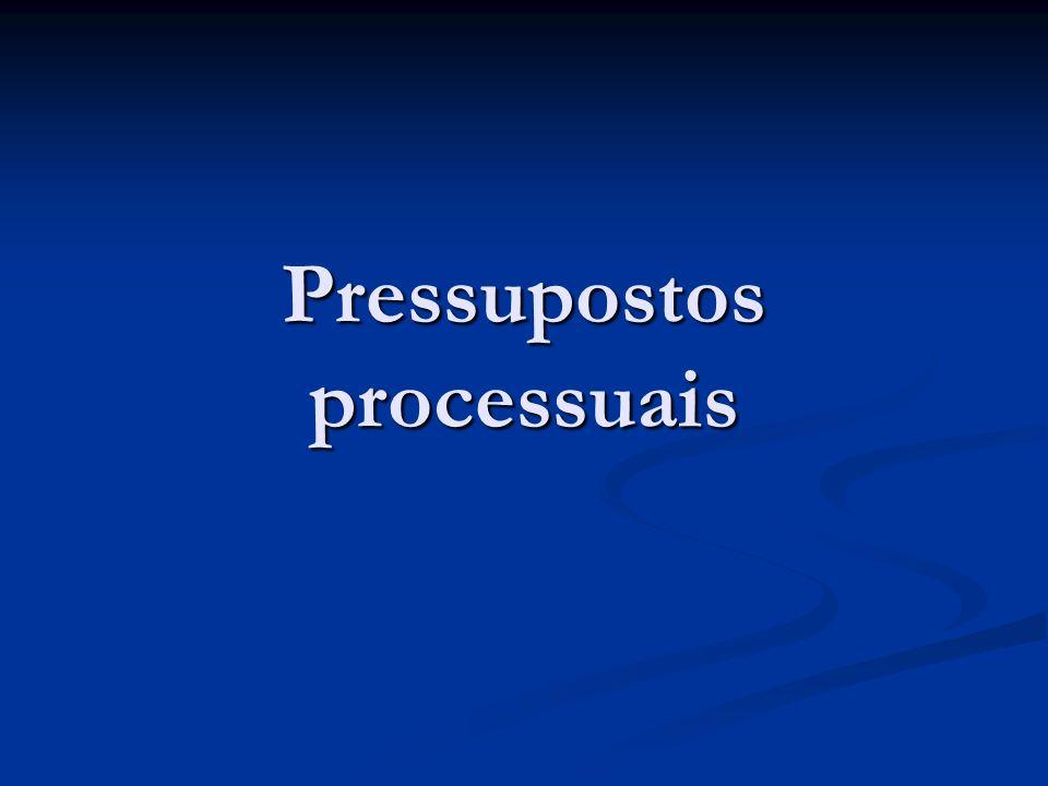 Pressupostos processuais