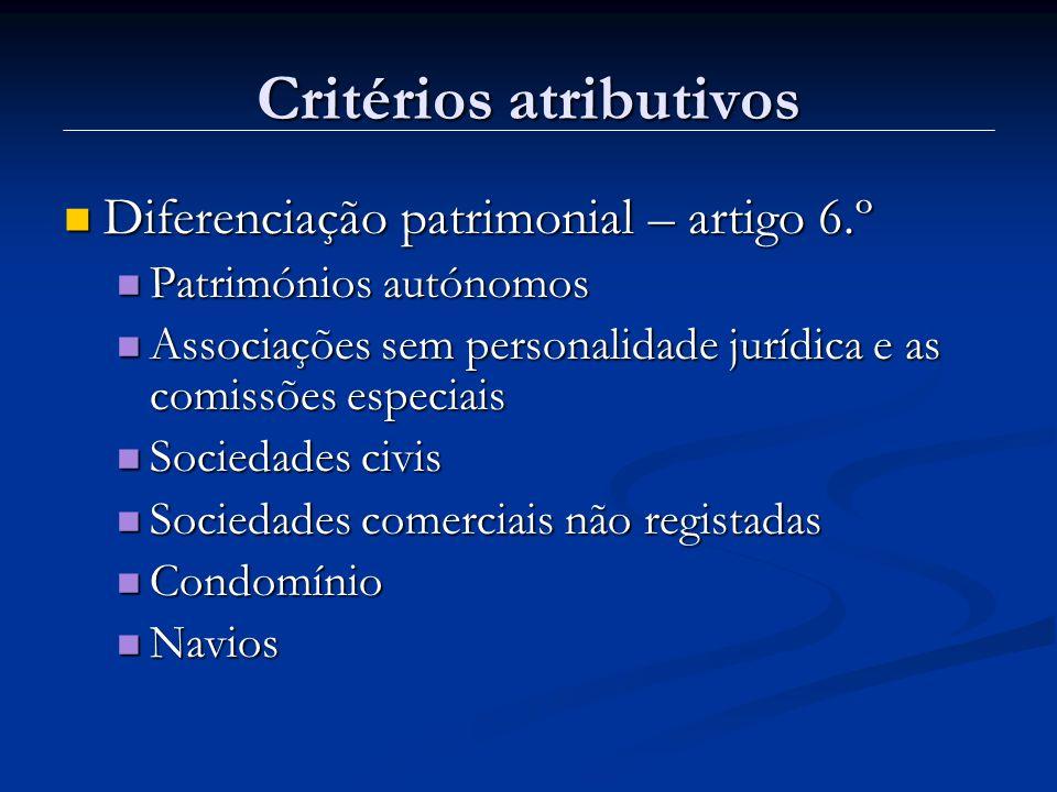 Critérios atributivos