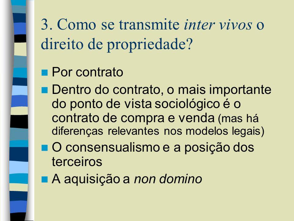 3. Como se transmite inter vivos o direito de propriedade