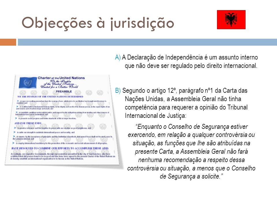 Objecções à jurisdição