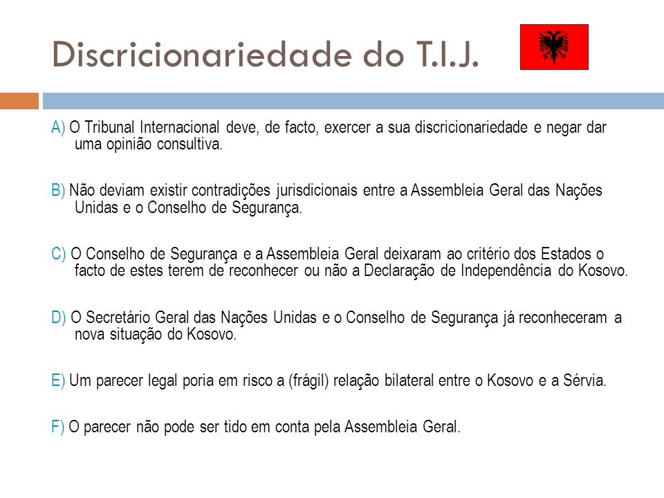 Discricionariedade do T.I.J.