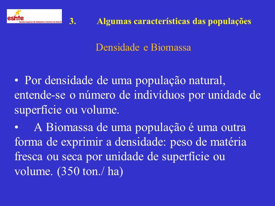 3. Algumas características das populações