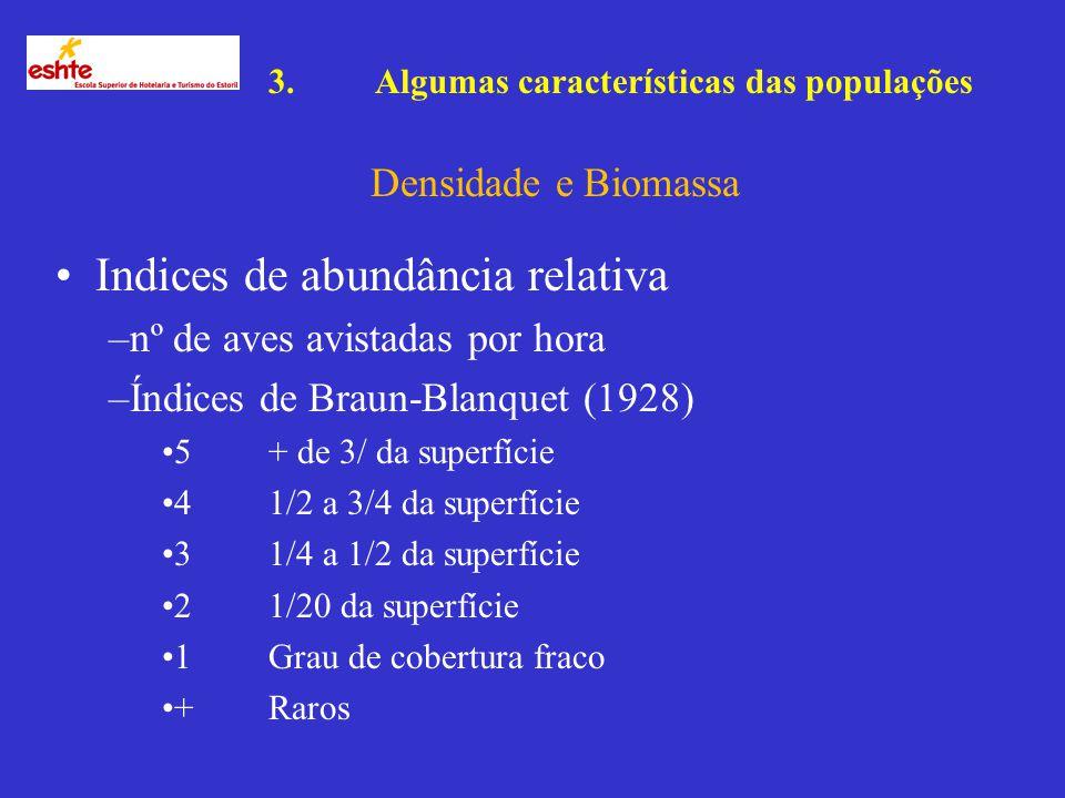 Indices de abundância relativa