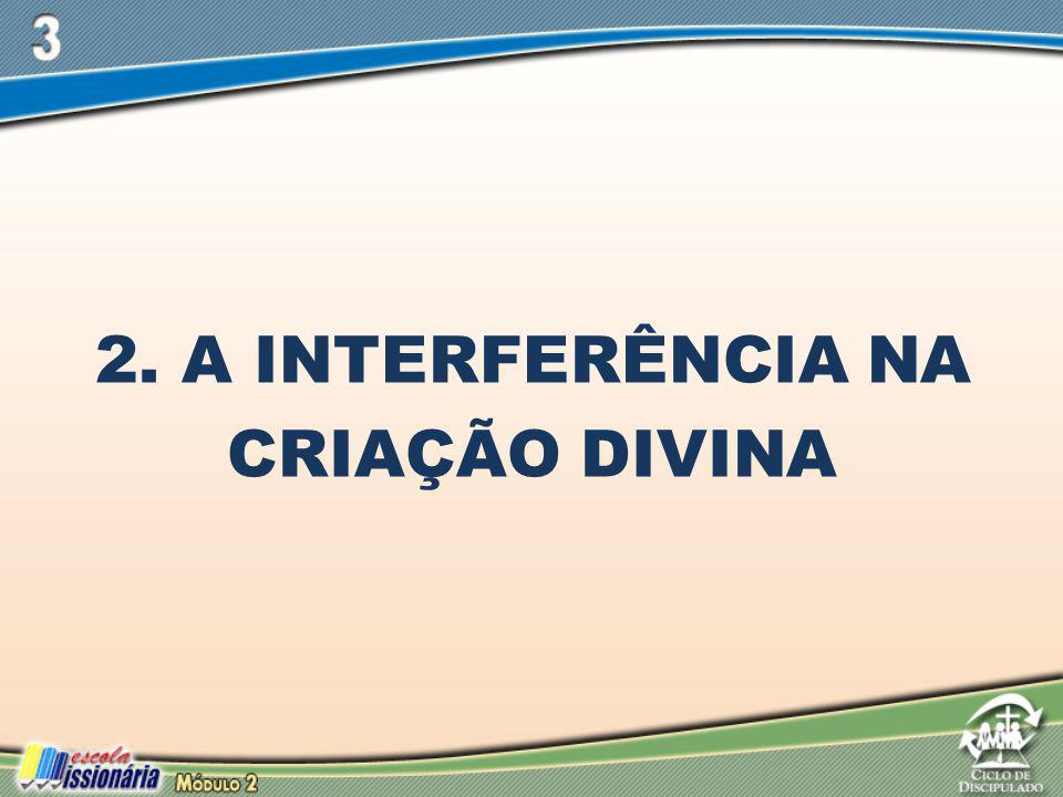 2. A INTERFERÊNCIA NA CRIAÇÃO DIVINA