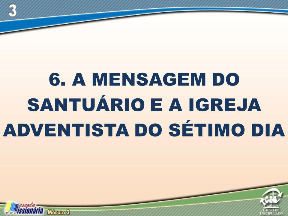 6. A Mensagem do Santuário e a Igreja Adventista do Sétimo Dia