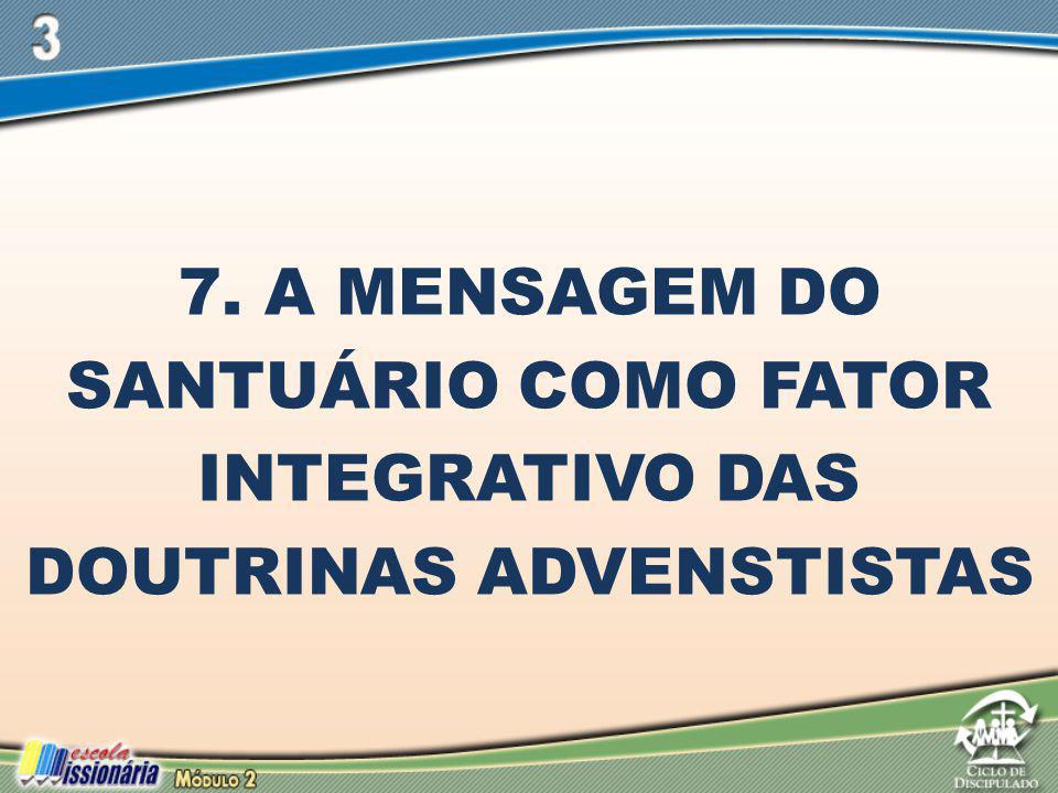 7. A Mensagem do Santuário como Fator Integrativo das Doutrinas Advenstistas