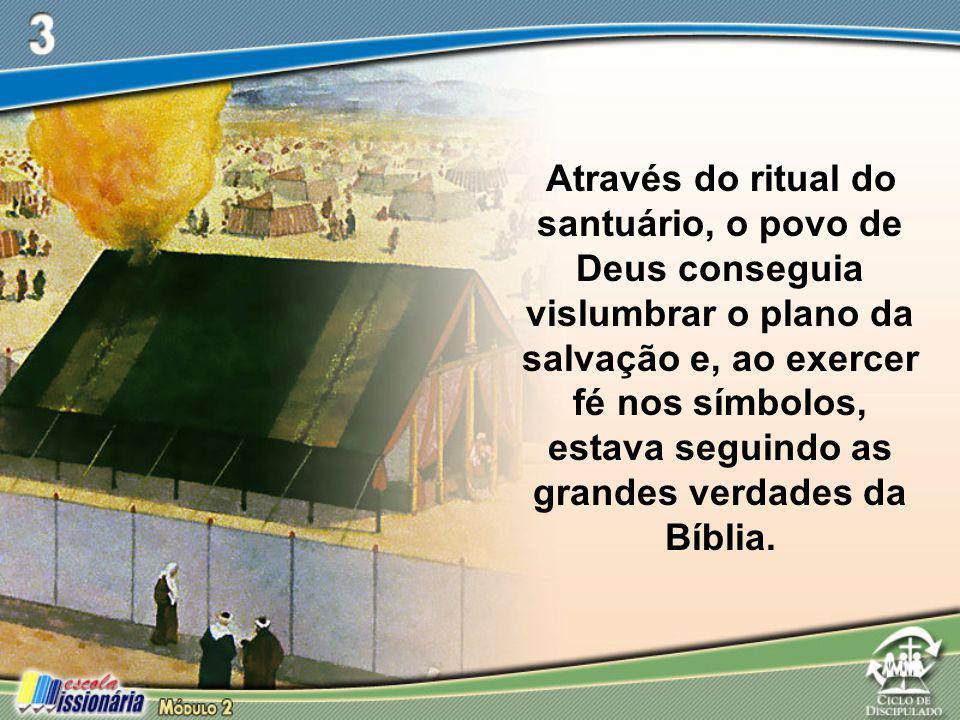 Através do ritual do santuário, o povo de Deus conseguia vislumbrar o plano da salvação e, ao exercer fé nos símbolos, estava seguindo as grandes verdades da Bíblia.