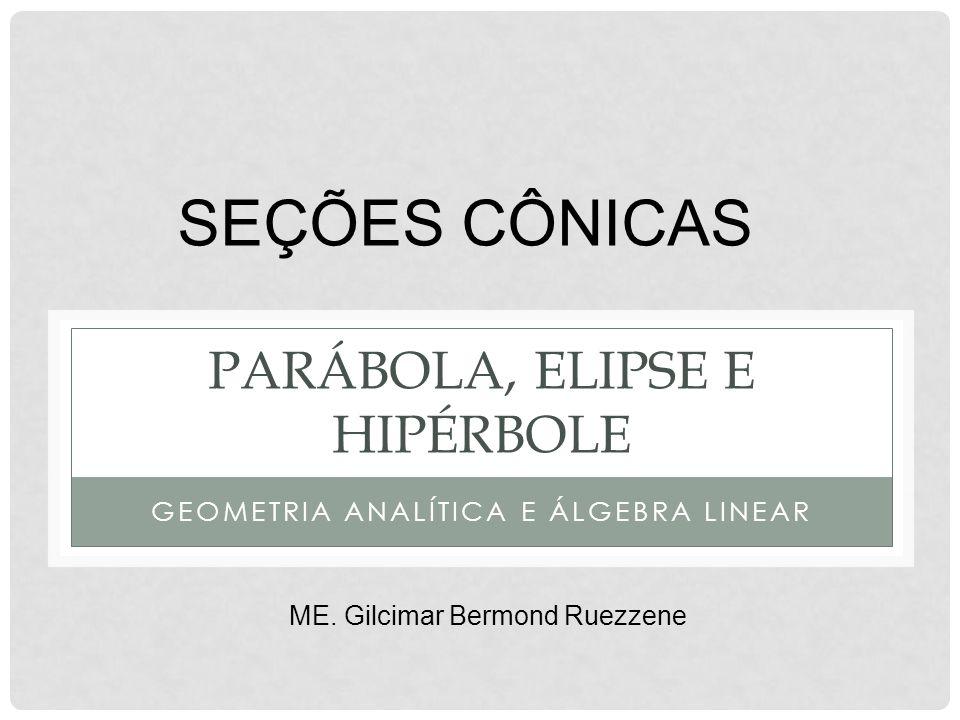 parábola, elipse e Hipérbole