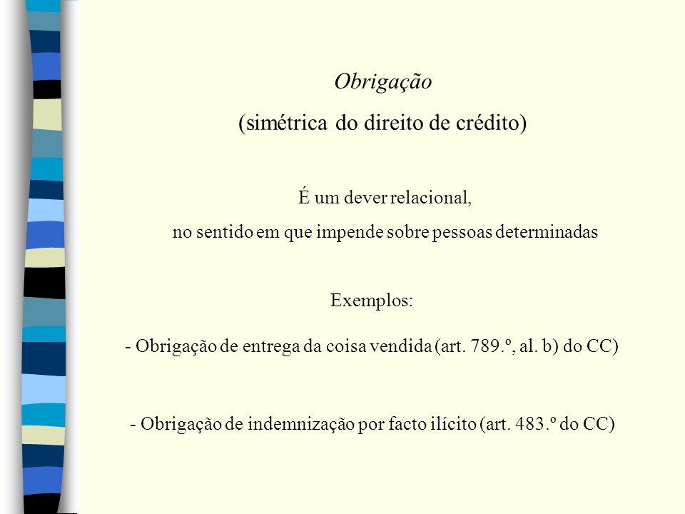 (simétrica do direito de crédito)