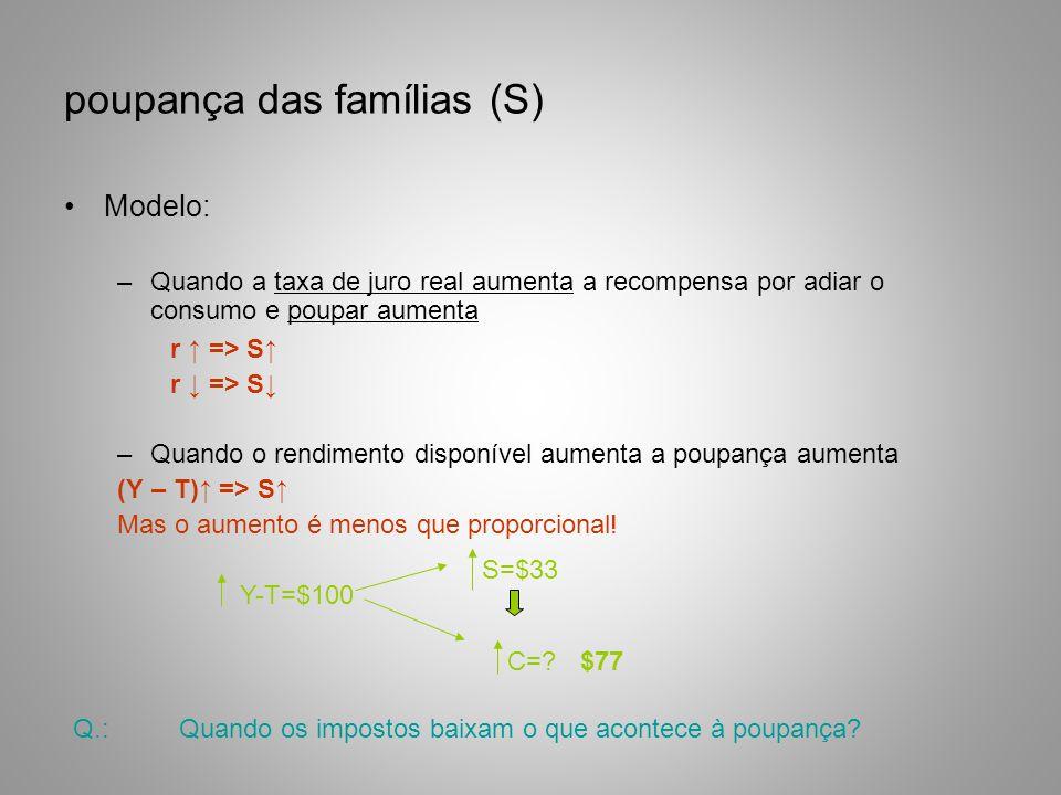 poupança das famílias (S)