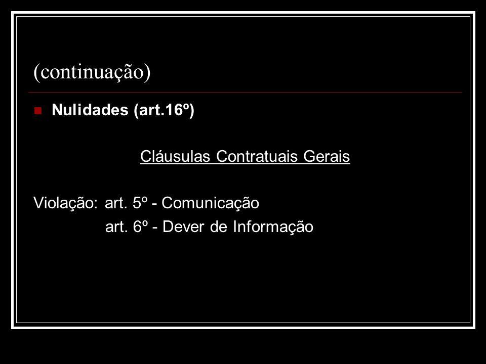Cláusulas Contratuais Gerais