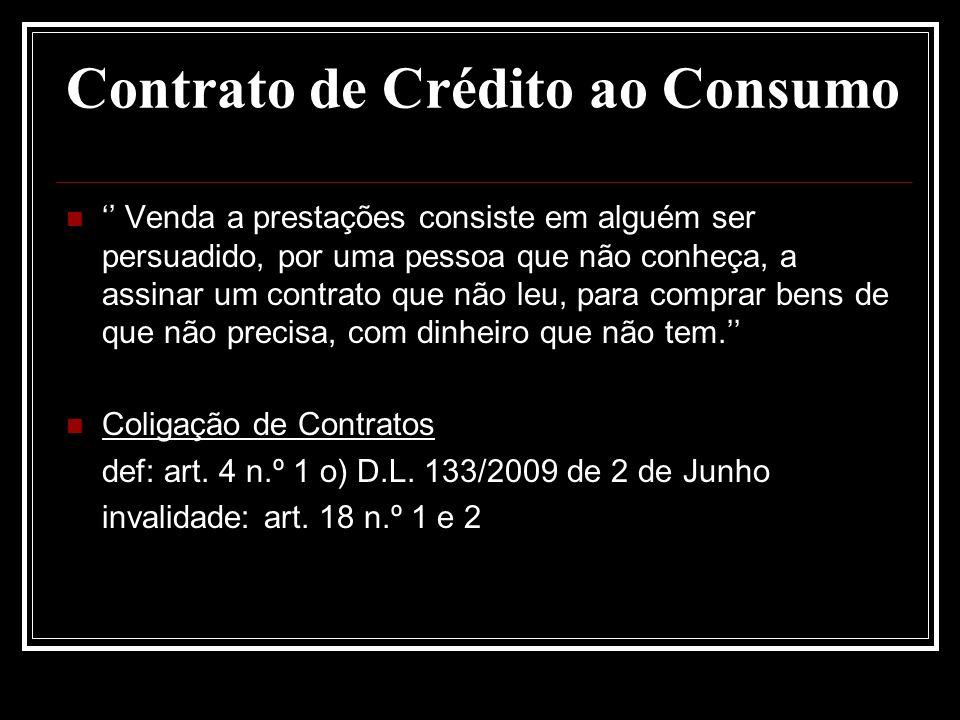 Contrato de Crédito ao Consumo