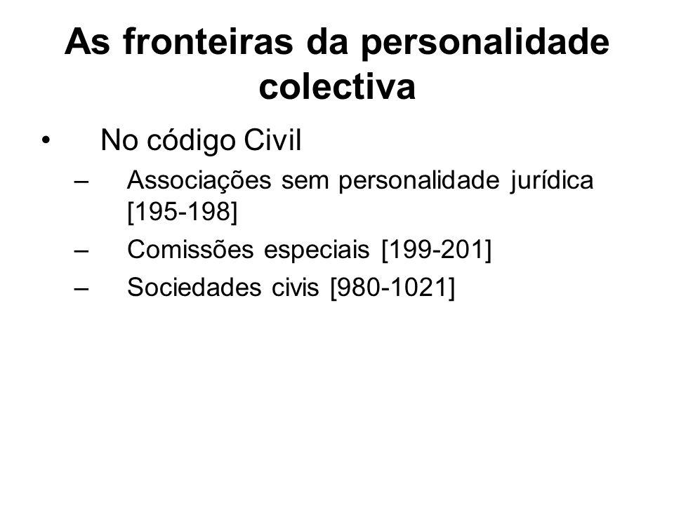 As fronteiras da personalidade colectiva