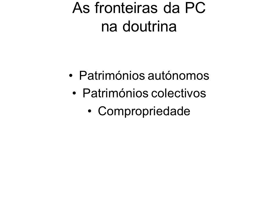 As fronteiras da PC na doutrina