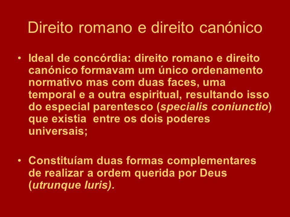 Direito romano e direito canónico