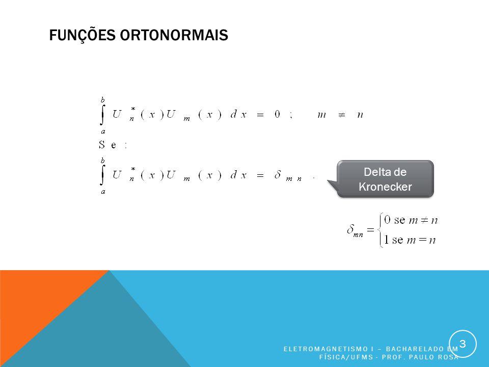 Funções ortonormais Delta de Kronecker