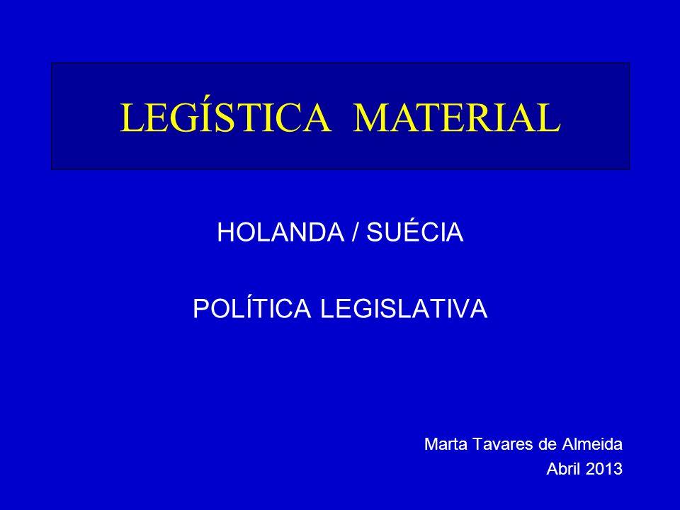 LEGÍSTICA MATERIAL HOLANDA / SUÉCIA POLÍTICA LEGISLATIVA