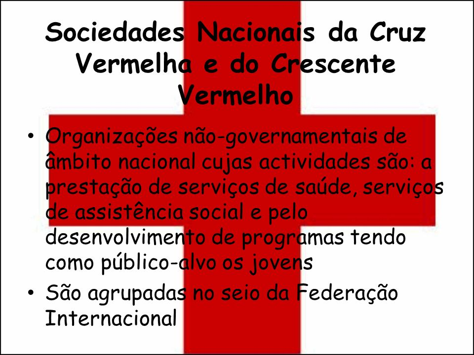 Sociedades Nacionais da Cruz Vermelha e do Crescente Vermelho