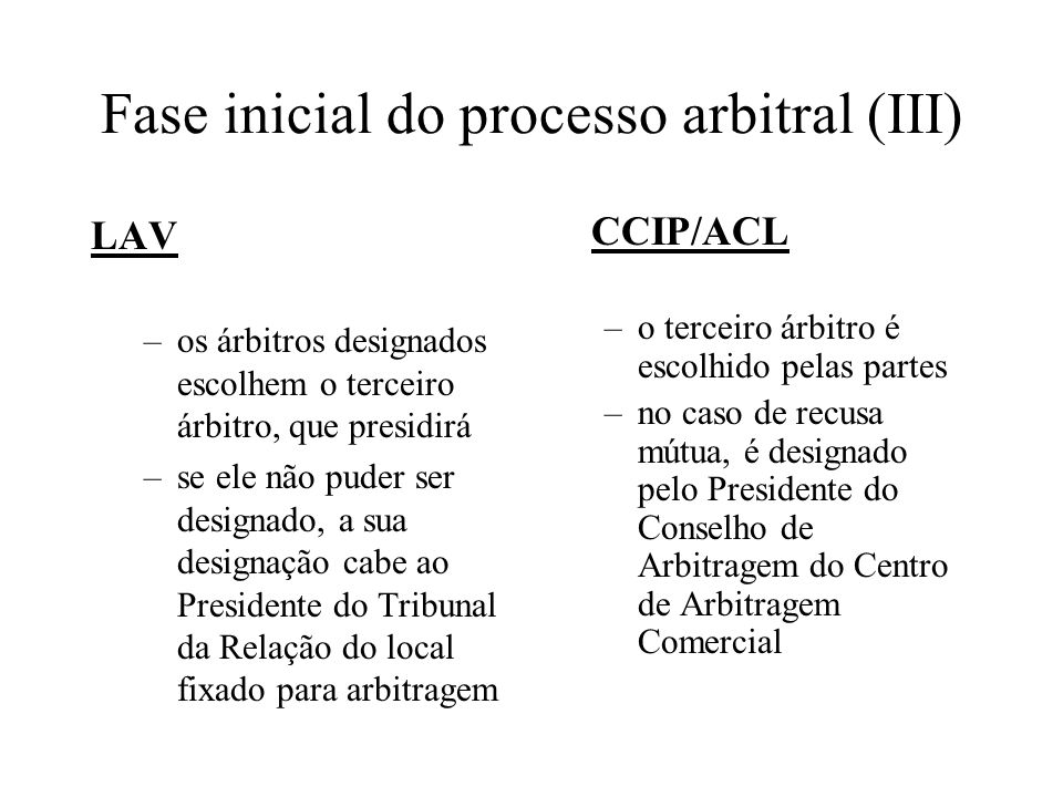 Fase inicial do processo arbitral (III)