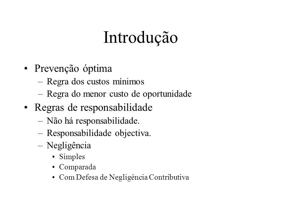 Introdução Prevenção óptima Regras de responsabilidade