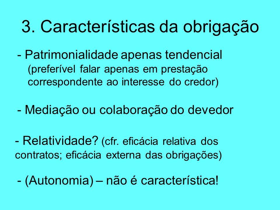 3. Características da obrigação