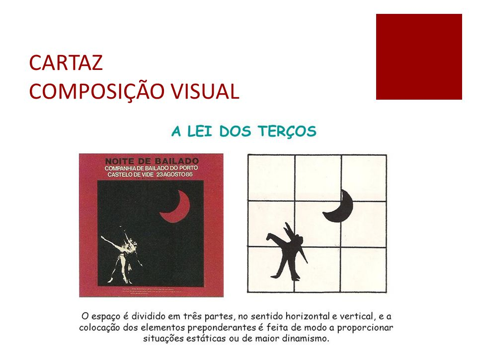 CARTAZ COMPOSIÇÃO VISUAL