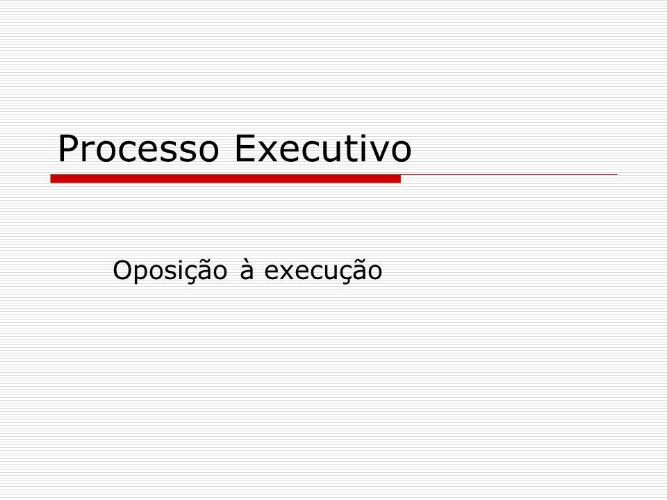 Processo Executivo Oposição à execução