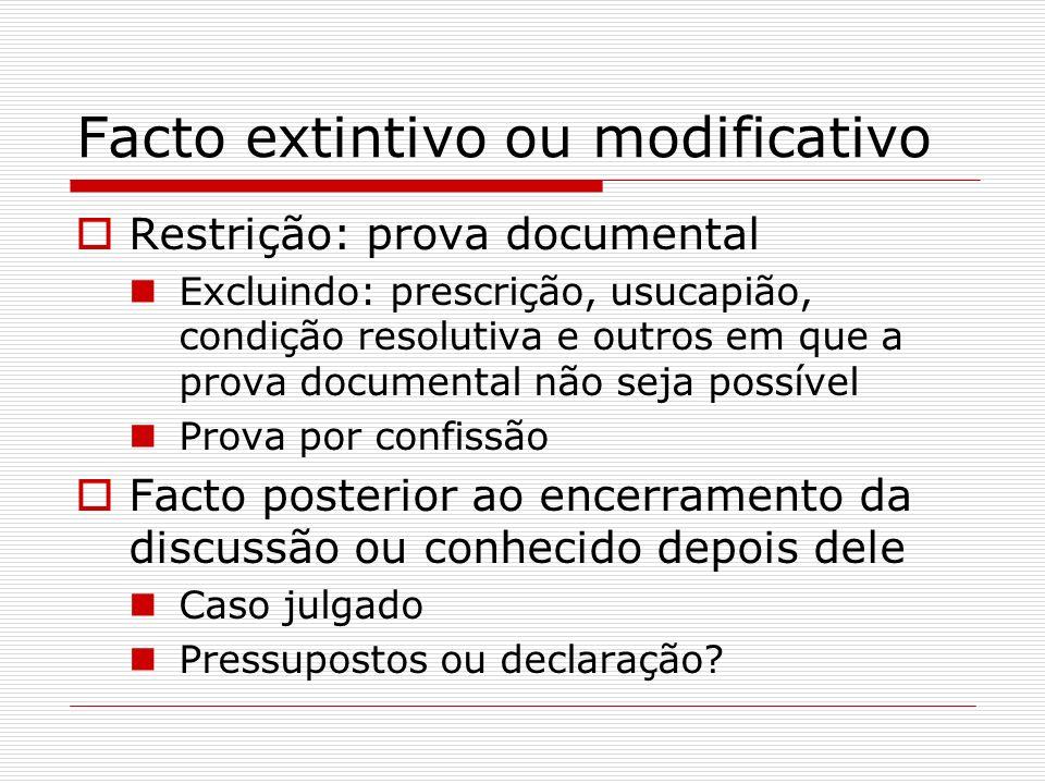 Facto extintivo ou modificativo