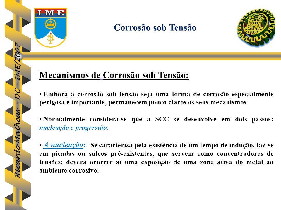 Mecanismos de Corrosão sob Tensão: