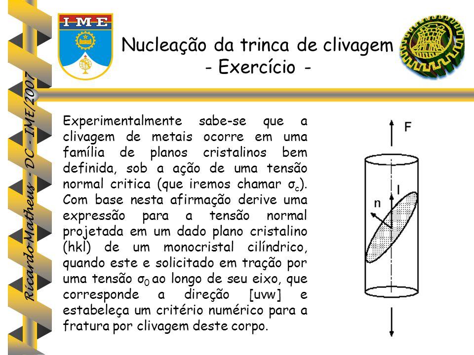 Nucleação da trinca de clivagem