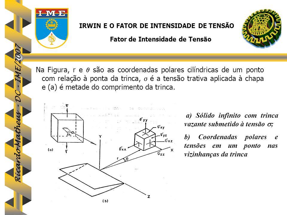 IRWIN E O FATOR DE INTENSIDADE DE TENSÃO